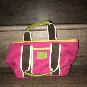 Vintage Coach Pink tote